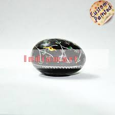paper mache egg paper mache handpainted birds egg shaped trinket boxes at rs 66
