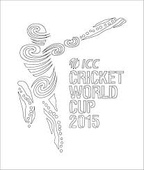 cricket world cup 2015 logo coloring kids