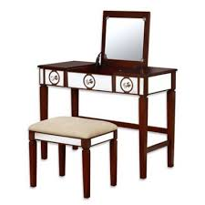 Linon Home Decor Vanity Set With Butterfly Bench Black Buy Linon Home Furniture From Bed Bath Beyond