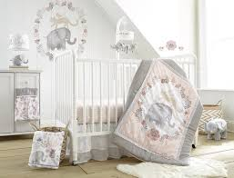 5 Piece Nursery Furniture Set by Levtex Baby Jungalo Blush And Grey Animal Themed 5 Piece Crib