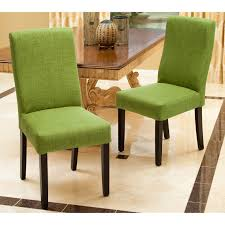 Lime Green Dining Room Dining Set Of 2 Fabric Lime Green Dining Chairs With Espresso