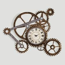 Unique Clocks Gear Wall Art With Clock World Market Steampunk Pinterest