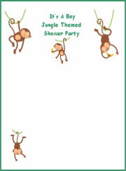 free printable jungle baby shower invitation template shower