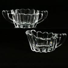Vintage Kitchen Collectibles Heisey Crystolite Individual Creamer And Sugar Set Elegant Glass