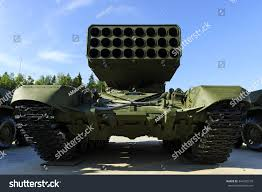 modern army vehicles multiple missile launcher military industry heavy stock photo
