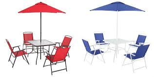 Walmart Mainstays Patio Set Walmart Com Mainstays 6 Piece Folding Dining Set Only 87 Shipped