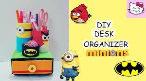 Pencil Holders For Desks diy minion pencil holder diy desk organizer diy angry bird pencil