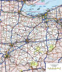 Road Maps Usa by Large Detailed Roads And Highways Map Of Ohio State With All