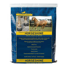 omega horseshine omega 3 flax supplement for natural horse health