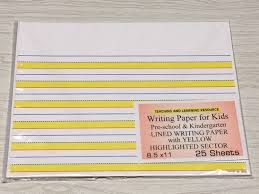 writing papers for kids writing paper for kids lined writing paper yellow highlighted writing paper for kids lined writing paper yellow highlighted sectors