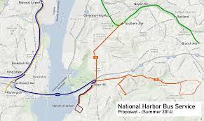 national harbor map metro proposes wilson bridge service greater greater