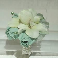 mint green corsage the floral touch uk wrist corsages prom corsage wrist