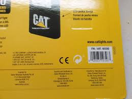 cat 4 pack led worklights with magnets and includes 12 duracell