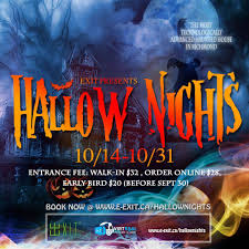 Halloween Haunted House Vancouver by Hallow Nights 2016 Exit Canada