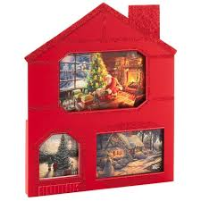 thomas kinkade house shaped assorted christmas cards with 3
