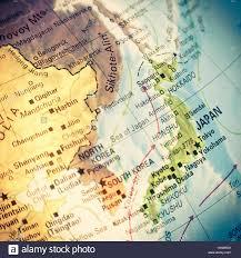 Sea Of Japan Map Map Japan Vintage Close Up Macro Image Of Japanese Map