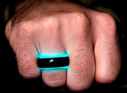 carbon fiber wedding rings wedding rings made of carbon fiber and charged by uv light