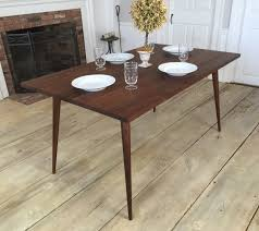 round mid century modern dining table with design picture 7425