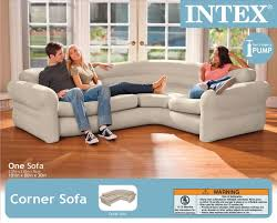 Blow Up Furniture by Intex Inflatable Corner Sofa Portable Modern Contemporary Air