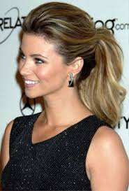 pictures of celebrity ponytail hairstyle