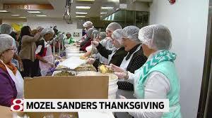 mozel sanders foundation s thanksgiving dinner 2017
