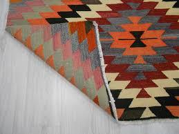 Colorful Kilim Rug Handwoven Vintage Decorative Colorful Small Turkish Kilim Rug 0257