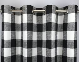 Black Gingham Curtains Black Buffalo Check Curtains Free Shipping Black Gingham Drapes