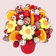 fruit bouquet delivery pomegranate fruit bouquet fresh edible bouquets by fruity co uk