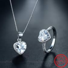 jewellery ring necklace images Luxurious sona diamond cz sterling silver necklace tooty ta jpg
