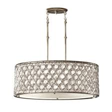 Oval Crystal Chandelier Feiss Lucia Oval Crystal Pendant Light In Burnished Silver