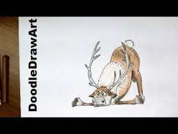 drawing how to draw sven from frozen step by step fan art
