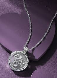 pandora necklace images Pandora medium sized locket with 3 petite charms sold seperatly jpg