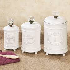 kitchen canister sets ceramic prime white kitchen canister sets
