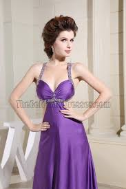 purple beaded backless evening dresses prom gown