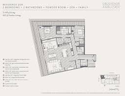 Residences Evelyn Floor Plan by Grosvenor Ambleside Presale Mapper