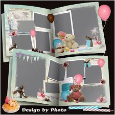 Photo Albums For Babies Psd Photo Album For Baby Pictures Gift For Birthday Photobook Psd