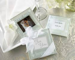 wedding favor coasters wishes pearlized photo coasters