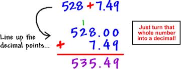 how to add decimals addition coolmath com