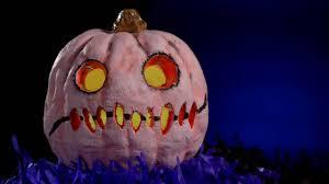 scarred creepy light up pumpkin halloween decorations shindigz