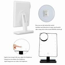 portable makeup vanity with lights adjustable vanity tabletop lamp 20 leds lighted led touch screen