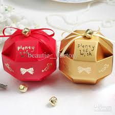 box with bell decoration wedding favor