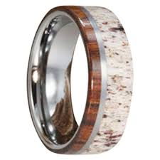 deer antler wedding band mens antler wedding bands men s wedding bands