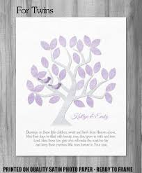 Personalized Baby Dedication Gifts Twins Dedication Gift Twin Baby Girls Baptism Blessing Quote