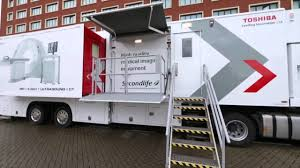 toshiba launches mobile ct scanner service in the uk youtube