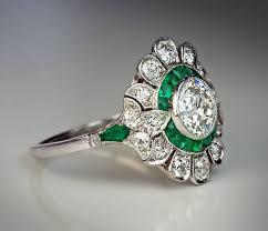 vintage art deco engagement rings original art deco diamond
