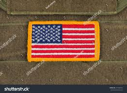 Uniform Flag Patch Rounded American Flag Patch On Us Stock Photo 274986035 Shutterstock