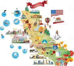 Map Of Los Angeles California by Cartoon Map Of California Stock Vector Art 495633666 Istock