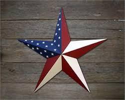 Barn Star Kitchen Decor by Americana Patriotic Metal Stars Painted Galvanized Heavy Duty