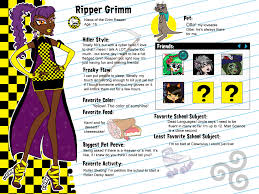 monster character profile monster oc ripper grimm