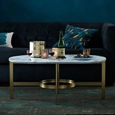 save or splurge brass and glass coffee tables